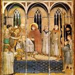 45в Симоне Мартини Похороны св Мартина Фреска в  Ассизи 1317