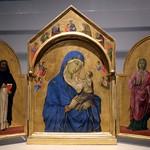 42 Дуччо Богородица со свв Домеником и мц Ауреей 1315