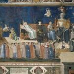 57a А. Лоренцетти. Аллегория доброго правления. Фреска в Палаццо Публико. Сиена, 1338-40