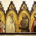 56 Амброджо Лоринцетти  ок 1330 Полиптих Екатерина, св Бенедикт, св Франсиск и М Магдалина