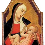 55 Амброджо Лоренцетти Мадонна дель Латте (кормящая грудью) ок. 1330