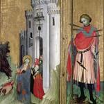 70в Св Андрей, изгоняющий демонов из Ниццы и св Себастьян. Тузонский алтарь нач XVв, Прованс