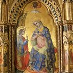 61а Лоренцо Венециано Лионский полиптих Фрагмент - Благовещение