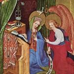 85в Конрад фон Зёст-Алтарь Страстей (Вильдунгенский алтарь), левая створка. Благовещение