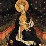 84 Мадонна Неизвестный мастер Кельнской школы 1450-е гг. Музей Тиссен-Борнемисса, Мадрид