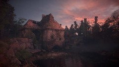 A Plague Tale - Innocence (Matze H.) Tags: a plague tale innocence wallpaper screenshot ingame photo mode sunrise sunset clouds river water sky house ruin forrest trees uhd hdr 4k