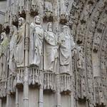 01в Скульптура центрального портала собора  Богоматери в Руане