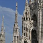 13c Башенки навершия Миланского собора
