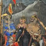 38а Джотто Распятие Фрагмент Римские воины в монгольском вооружении и с монголоидными лицами