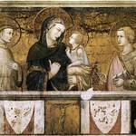 54 Пьетро Лоренцетти. Мадонна со св. Франциском и Иоанном Евангелистом Ассизи.