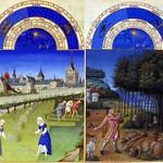 78d Великолепный часослов герцога Беррийского Календарь 1440-1450