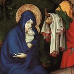 81в Мельхиор Брудерлам. Алтарь монастыря Шанмоль, фрагмент Бегство в Египет, кон. XIV в.
