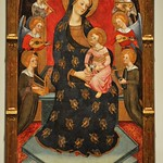 86 Педро Серра. Мадонна с младенцем и с музицирующими ангелами. Музей Каталонии. 1395