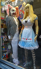 Shock window (Andy WXx2009) Tags: halloween store cardiff candid windows shop mannequin dummies artistic horror women fancydress cosplay costumes blonde rabbit wales europe mask