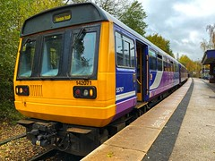 142071_RoseHill (CaptFlameRate) Tags: train pacer railway station rosehill marple stockport class142