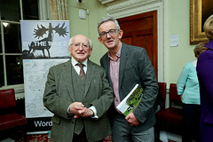 """191Ann Lane at the launch of  her new book  on Public Sculpture all over Ireland      .   """"By the Way 2    """" at the Royal Irish Academy in Dublin  on OCT 19TH 2019  with Niall Kavanagh 029_LANE_200"""