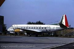 I-LILI  Viscount 785  Alitalia (caz.caswell) Tags: 4xrollsroycedarttuurbopropengines rr rrdart vickers viscount vickersviscount airliner turbopropairliner sdv acc pos yow lhr lgw gib lpl fco phl dus ilili alitalia romefiumicino italy