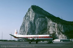G-BBVH  Viscount 807  Gibair (caz.caswell) Tags: 4xrollsroycedarttuurbopropengines rr rrdart vickers viscount vickersviscount airliner turbopropairliner sdv acc pos yow lhr lgw gib lpl fco phl dus gbbvh gibair gibralta therock rockofgibralta