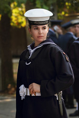 the girl of the sea (dim.pagiantzas | photography) Tags: people woman female officer navy portrait face uniform pose