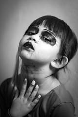 Sweet Halloween;-) (frank.gronau) Tags: white black halloween girl frank kid eyes sony kind horror alpha mädchen gronau child