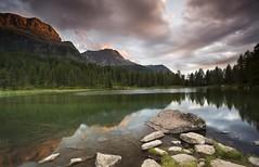 San Pellegrino (Kevin.Grace) Tags: italy dolomites dolomiti san pellegrino mountains landscape sunset lake reflection
