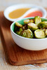 Roasted Brussels Sprouts with 2 Dips (haraldwalker) Tags: vegetable dip food spicy fingerfood vegetarian roasted caramel partyfood brusselssprout caramelsauce brusselssprouts