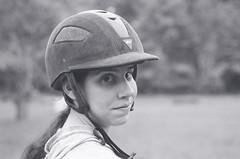 Renée (Derek R Goulet) Tags: horse horses animals equine crosscountry schooling equestrian sports saddle course massachusetts outdoors 35mm film bw blackandwhite pentax pentaxk1000 walk trot canter gallop jumps jump gelding