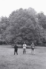 Cross-country Schooling 05 (Derek R Goulet) Tags: horse horses animals equine crosscountry schooling equestrian sports saddle course massachusetts outdoors 35mm film bw blackandwhite pentax pentaxk1000 walk trot canter gallop jumps jump gelding