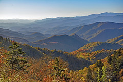 As far as the Eye can See (mevans4272) Tags: layers mountains nc trees fall