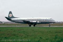 PH-VIG  Viscount 803  KLM (caz.caswell) Tags: 4xrollsroycedarttuurbopropengines rr rrdart vickers viscount vickersviscount airliner turbopropairliner sdv acc pos yow lhr lgw gib lpl fco phl dus phvig klm royaldutchairlines theflyingdutchman