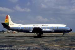 9G-AAW  Viscount 838  Ghana Airways (caz.caswell) Tags: 4xrollsroycedarttuurbopropengines rr rrdart vickers viscount vickersviscount airliner turbopropairliner sdv acc pos yow lhr lgw gib lpl fco phl dus 9gaaw ghanaairways accra ghana