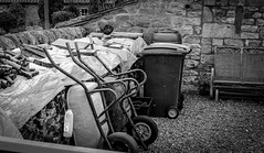 Stainton . (wayman2011) Tags: colinhart fujifilm35mmf2 fujifilmxt1 lightroom5 wayman2011 bw mono rural villages wheelbarrow pennines dales teesdale stainton countydurham uk