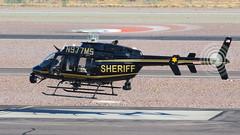 Maricopa County Sheriff Bell 407GX N977MS 'Fox 2' (ChrisK48) Tags: 2014 aircraft bellhelicoptertextroncanada dvt helicopter kdvt mcso maricopacountysheriff n977ms phoenixaz phoenixdeervalleyairport 407 bell407gx fox2