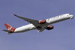 Virgin Atlantic A350-100 G-VLUX at Heathrow Airport LHR/EGLL (dan89876) Tags: virgin atlantic airbus a350 xwb a35k a3501000 a3501041 gvlux red velvet london heathrow international airport takeoff runway 09r departure lhr egll