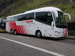 City Circle Coaches of Hayes Scania K410EB6 Irizar i6 YN17OMH 144, in Globus Tours livery, at Johnston Terrace, Edinburgh, on 30 September 2019. (Robin Dickson 1) Tags: busesedinburgh scaniak410eb6 irizari6 citycircle globustours yn17omh