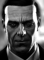 """The Admin"" (L1netty) Tags: theevilwithin theevilwithin2 tangogameworks bethesdasoftworks bethesda pc game gaming pcgaming videogame reshade screenshot virtual digital srwe 5k character theadministrator administrator admin man male people portrait closeup face dof blackandwhite monochrome bw"