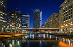 London, Canary Wharf, Docklands (FV1405) Tags: 2019 blauestunde england grosbritannien london vereinigteskönigreich