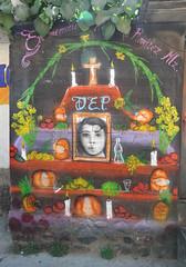 Ofrenda Dia de Muertos Mural Oaxaca Mexico (Ilhuicamina) Tags: dayofthedead murals art mexican oaxacan ofrenda altar paintings