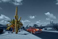Pleasant Valley Friday (oybay©) Tags: glendale arizona carshow brown classic pontiac car hdr classiccar chrome chieftain silverstreak straight8 americancar outdoor suncitywest