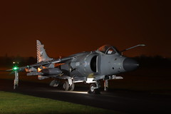 Royal Navy Sea Harrier (Andrew Edkins) Tags: harrier royalnavy zh796 canon geotagged thresholdaero cosford raf aircraft aviation shropshire england uk winter 2019 night jet fighter lights jumpjet