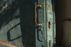 The keyhole that has never been used. (Khuroshvili Ilya) Tags: weathered aged door old blue shadow sun color entrance instagram