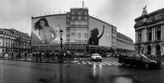 Mon idôle. Paris, nov 2019 (Bernard Pichon) Tags: paris france bpi760 fr75 opéra travaux lancôme photo parfum pub