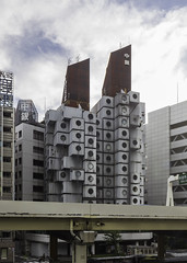 Nakagin Capsule Tower (中銀カプセルタワ) - Tokyo (on the water photography) Tags: nakagin capsule tower 中銀カプセルタワ tokyo architecture metabolism