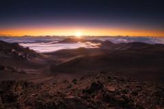 Haleakala Sunrise (IzTheViz) Tags: hawaii volcano maui haleakala sunrise hawai crater