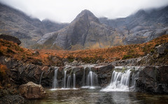 Fairy Pools Skye (L.H.IMAGES) Tags: landscape landscapephotography fairypools isleofskye skye waterfall waterfalls mountains mountain rugged lumix g9 colours colourful rocks mist cloud orange light contrast outdoor landscapephotographymagazine