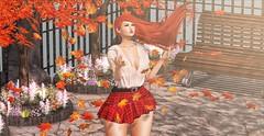 ♚ #801 ♚ (Caity Saint) Tags: tableauvivant redhead ck candykitten belleevent empowered gacha backdrop secretposes posefair ak akeruka bento autumn maitreya sl secondlife pixels avatar doll 3d