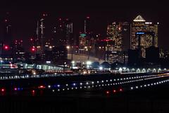 _DSC4328 (adamking69) Tags: skyline city cityscape milleniumdome london canarywharf londoncityairport airport planes lights longexposure nikon d850 nikkor nikkor28300