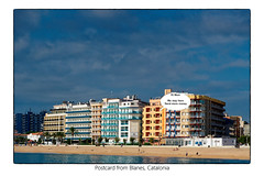 Greetings from Blanes (Flemming J. Gade) Tags: postcard blanes vacation catalonia elviraapartments