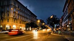 Budapest bei Nacht - Rákóczi út (Chridage) Tags: rákócziút urania budapest ungarn magyarország nacht nachtaufnahme night lichter autos nikoncoolpixb700 nikon madewithluminar