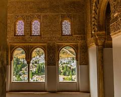 Day 14: Granada (Call me Shona) Tags: travel summer vacation holiday spain europe espana palace alhambra andalusia art window architecture mosaic historic granada